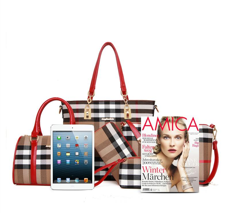 Printed Striped Picture Bag (Six-Piece Set)