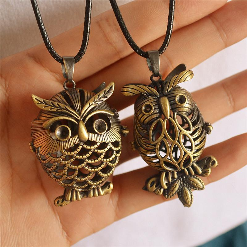 Fashion Retro Hollow Cartoon Owl Necklace