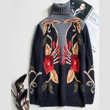 Fashion Pullover Turtleneck Sweater